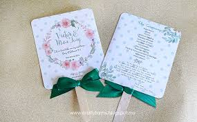 program fans wedding card malaysia crafty farms handmade mint green wedding