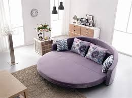 comfortable round sofa bed with colorful cushion bright color sofa
