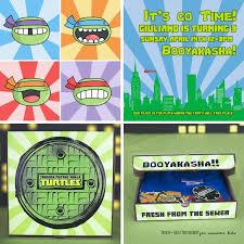 ninja turtle birthday invitations diy tags ninja turtle birthday