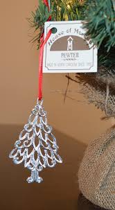 amazon com house of morgan pewter christmas tree ornament 1019