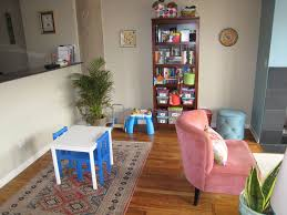 kids room divider ideas with laminate hardwood flooring and pink