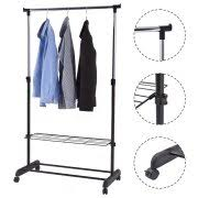 rolling clothing racks