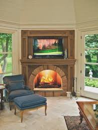 fireplace new hang tv above brick fireplace best home design