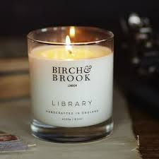 library scented candle birch brook