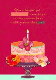 birthday cake and friendship birthday card greeting cards hallmark