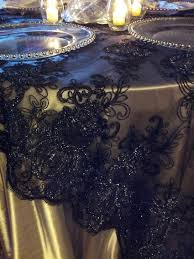 Lace Table Overlays Where Can I Find Black Mesh Lace Overlays Like These Pics