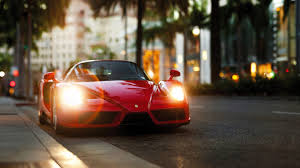 ferrari background enzo ferrari front view red sports car hd background wallpaper