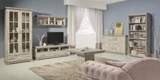 komplettes wohnzimmer wohnzimmer set 6 teilig wohnwand kommode couchtisch retro www