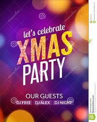 lets celebrate xmas party design flyer template with multicolored