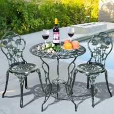 Aluminum Patio Furniture Set - cast aluminum bistro rose furniture set green outdoor furniture