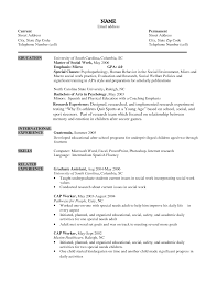 Sample Resume Templates Entry Level by Social Work Resume Templates Entry Level Free Resume Example And