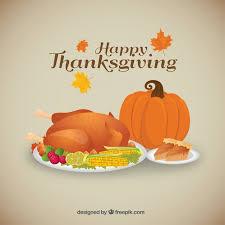 background of tasty thanksgiving dinner vector free