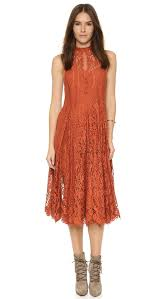 free people angel rays lace trapeze midi dress shopbop