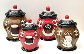 amazon com tuscany hand painted fleur de lis coffee design