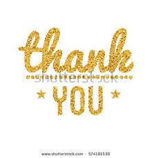 thank you gold glitter text thanksgiving stock vector 574191538