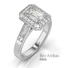 engagement rings emerald cut emerald cut diamond engagement ring with side stones
