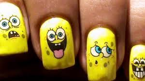sponge bob decals nail art nail water decals how to nail polish