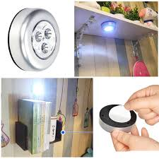 stick on lights for closets battery powered mini 3led night light wireless push touch cabinet