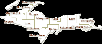 counties upper peninsula michigan travel