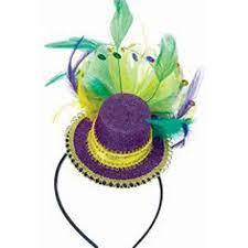 mardi gras hat mini top hat fascinator party headband mardi gras