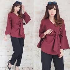blouse wanita blouse wanita baju atasan kimono elevenia