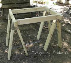 how to build a sawhorse table with brackets u2013 designs by studio c