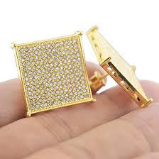 back earrings for men square gold 22mm earrings earrings