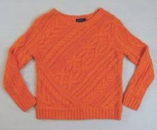 orange sweater womens polo ralph s chunky cable knit knit 100 cotton