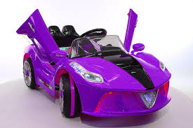 purple ferrari 2017 ferrari spider style kids ride on car mp3 12v battery power