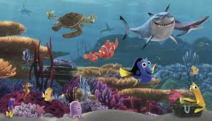 york wallcoverings walt disney kids ii finding nemo wall mural walt disney kids ii finding nemo wall mural