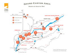 Map Of Grand Canyon Grand Canyon Of The Yellowstone Trail Map Maps Of The Major