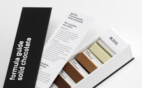 a beautiful box of chocolates ingeniously packaged as a pantone