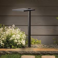 kichler 15806bkt27r 2700k led shallow shade large path light in