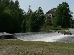 Wehr Baden Großes Wehr Baden Im Fluss Inbudejovice Cz Offizielles