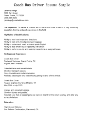 Truck Driving Resume Sample by Coach Driver Cover Letter