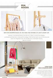 ground simple solid wooden hangers hanging clothes bedroom fashion