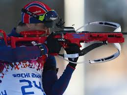 logical explanation for why olympic biathlon uses guns business