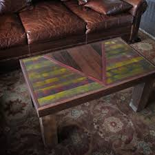 reclaimed wood coffee table the chalet table geometric modern