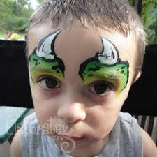 green rhino face paint horns reptile fp animals pinterest