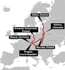 Vilseck Germany Map by U S Convoy Enters Prague As Show Of Strength To Putin In Europe