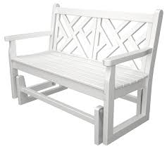 polywood chippendale glider quality outdoor furniture