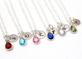 birthstone necklace necklace personalized birthstone necklace by bridesmaidsgiftnicol