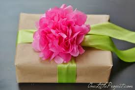 gift wrap tissue paper wrapping with tissue paper flowers