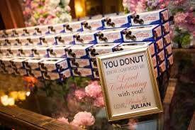 Nyc Wedding Favors by Favors Gifts Photos Donut Favors Inside Weddings