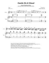 Castle On A Cloud Download Castle On A Cloud For Flute Choir Sheet Music By Alain