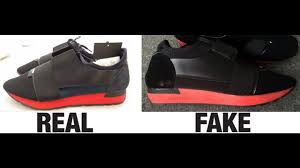 how to spot fake balenciaga race runner trainers authentic vs