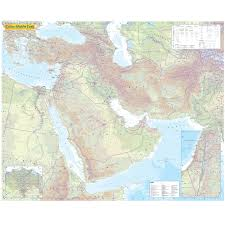 east political map middle east political wall map map marketing