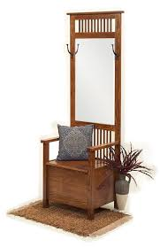 amish mission entryway storage bench with mirror foyer bench