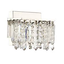 luxury crystal chrome finish 1 light wall lamp modern lighting for