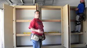 Free Wooden Garage Shelf Plans by Manny U0027s Organization Station Herculean Garage Storage Cabinets How